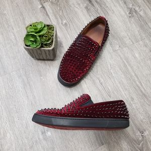 Christian Louboutin Roller Boat Studded Shoes 41
